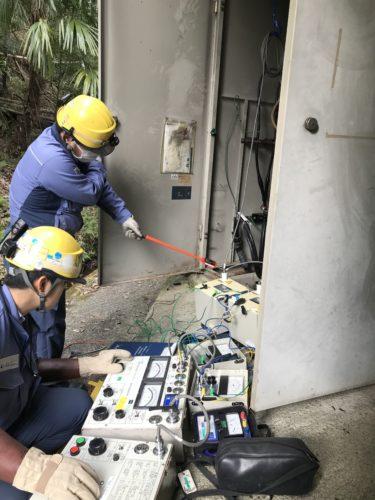 ケーブル耐圧試験